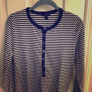 Striped Long-Sleeved J.Crew Top